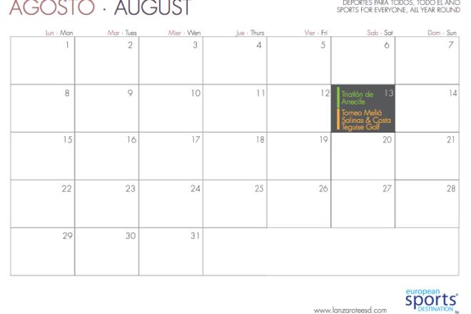 Eventos deportivos Agosto 2016