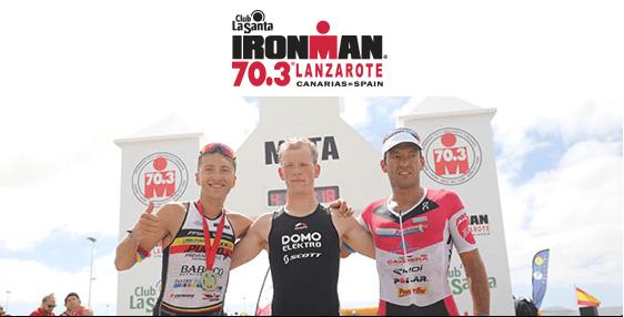 Pieter Heemeryck (BEL) y Lisa Hütthaler (AUT) campeones Ironman 70.3 Lanzarote 2016