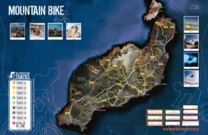 Miniatura Mountain Bike mapa rutas Lanzarte
