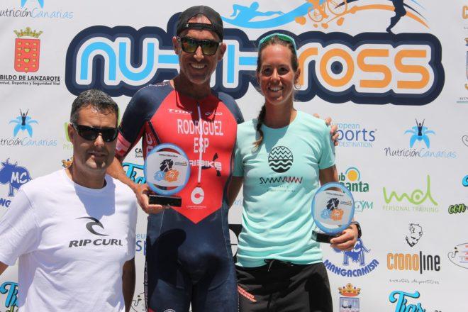 Fernando Rodríguez and Tessa Kortekaas, winners of the IV Nutricross Triathlon