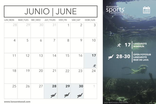 Eventos deportivos de junio en Lanzarote