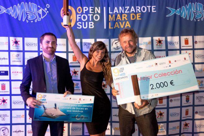 Arturo Telle y Davinia Hernández se proclaman vencedores de la novena edición del Fotosub Lanzarote Mar de Lava