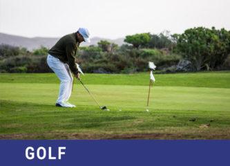 Vacaciones deportivas; practicar golf en Lanzarote