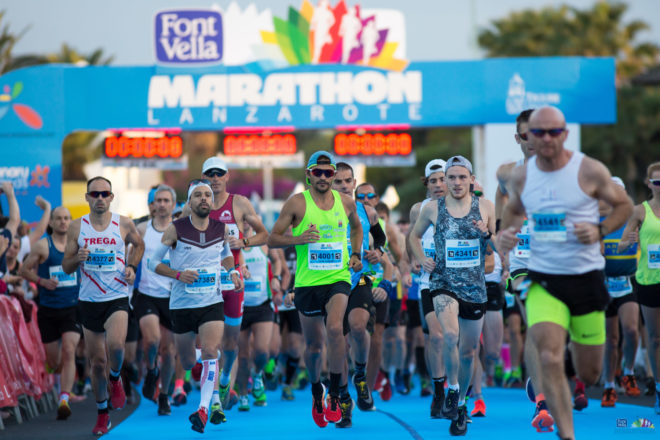 Ludwig Lefevre y Veele D'Haese, se alzan con la victoria en la 28ª Font Vella Lanzarote International Marathon