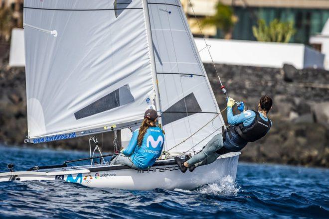 Los equipos de vela olímpica encuentran en Lanzarote su paraíso particular