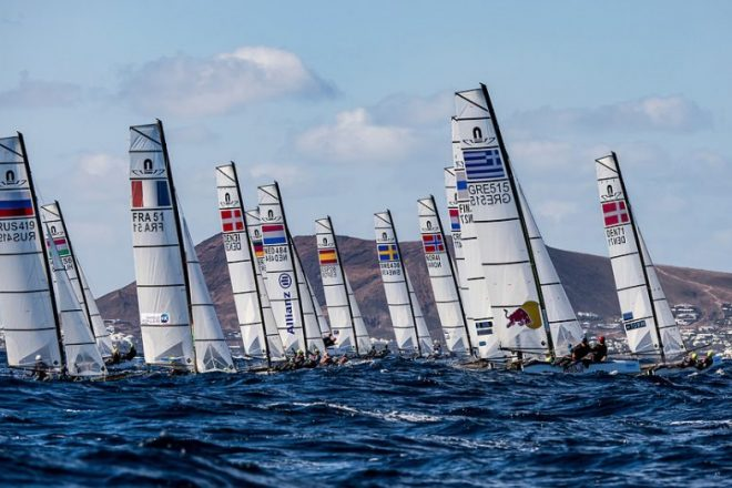 Espectáculo olímpico en el litoral de Lanzarote
