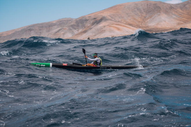 Lanzarote offered 27 km of spectacle in the Canoe Ocean Racing World Championship